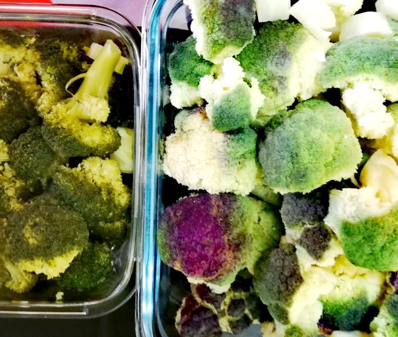 Verduras a vapor con salsa de yogur