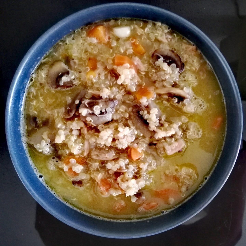 Quinoa con atún y leche de coco