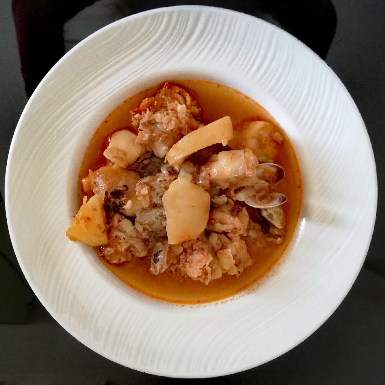 Merluza en salsa de pimentón