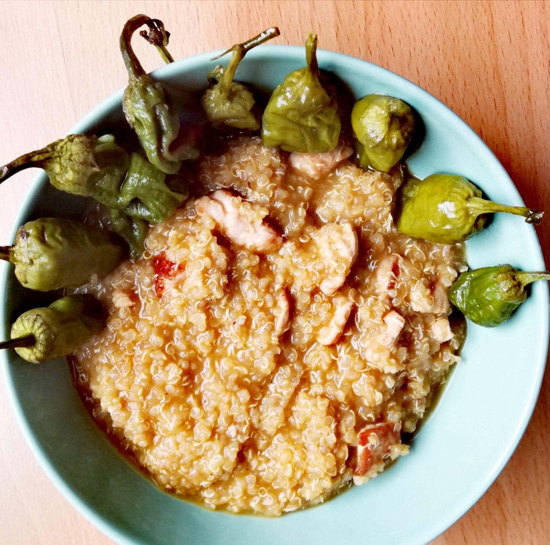 Quinoa con pavo y verduras