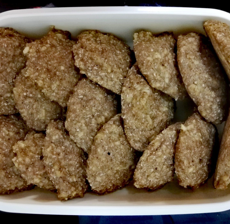 Galletas de coco y manzana rallada