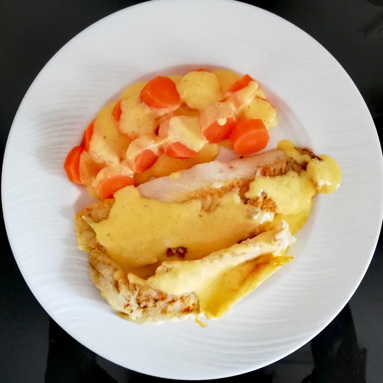 Pescado en salsa de mandarina