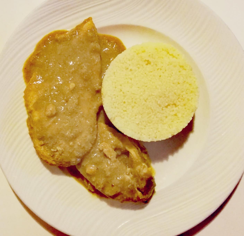 Pollo en salsa satay