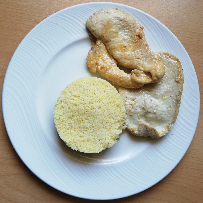 Pollo marinado al limón