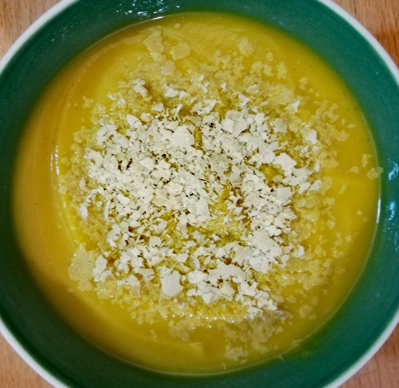Crema de verduras con leche de coco