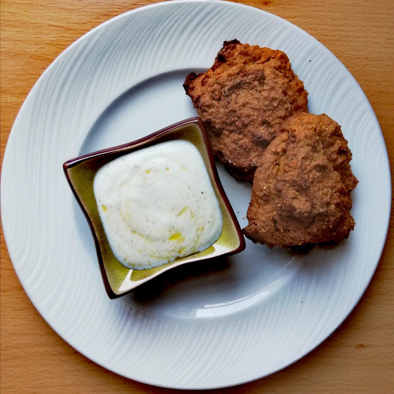 Falafel con pimientos de piquillo