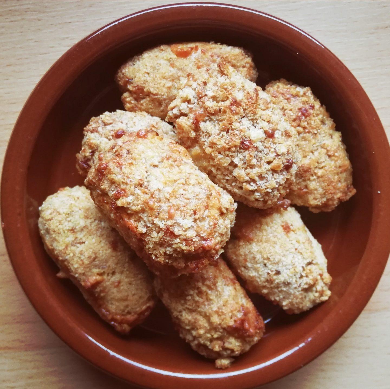 Croquetas de pollo y queso