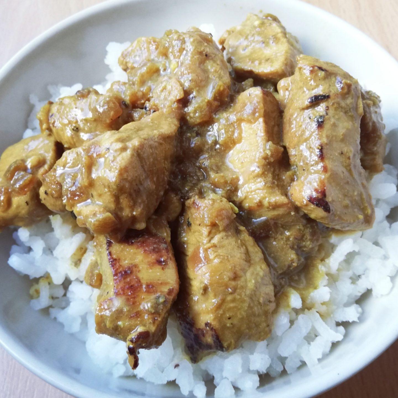 Pechugas de pavo al curry