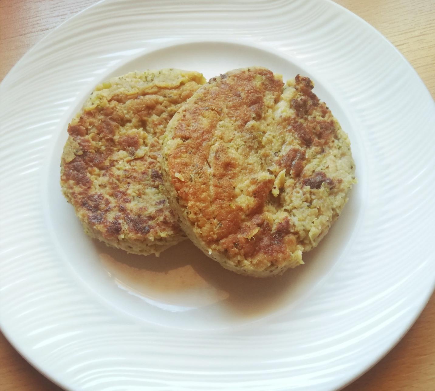 Hamburguesa de patata y brócoli