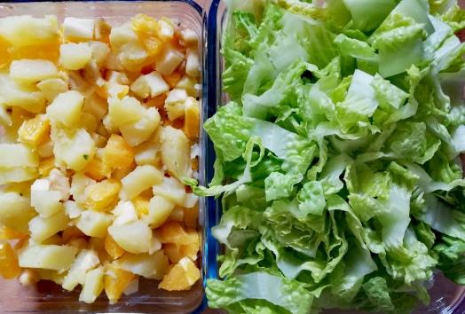 Ensalada de patata y naranja