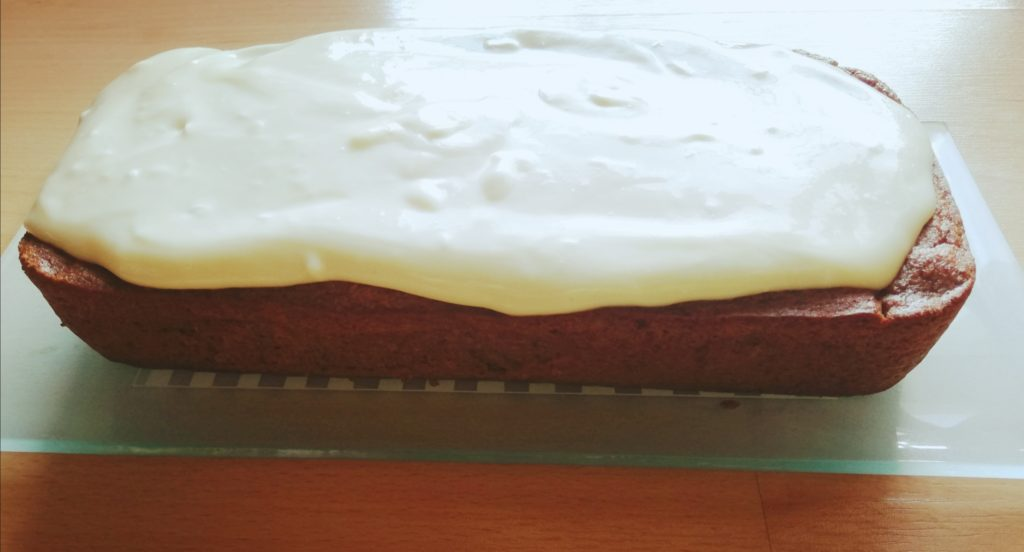 carrot cake con frosting