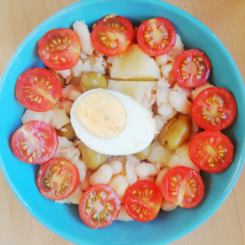 Ensalada de alubias con patatas