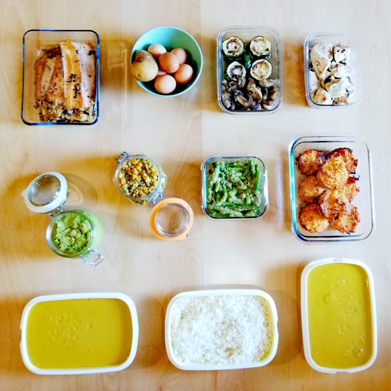 Sesión de batch cooking última semana de octubre