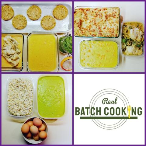 Sesión de batch cooking de sábado por la tarde