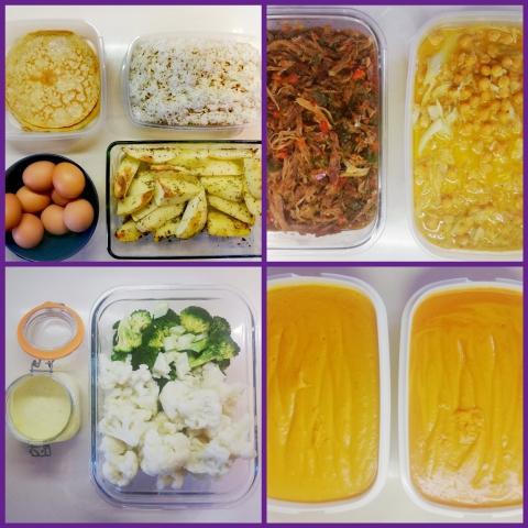 Primer batch cooking del mes de febrero, con desayunos, comidas y cenas