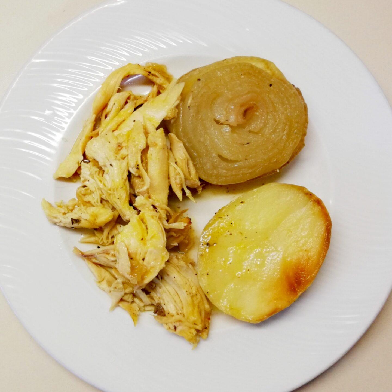 Asado de pollo en una sesión de batch cooking